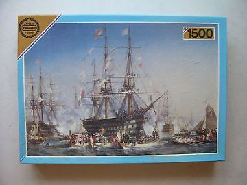 Napoleon 3  Receiving Queen Victoria at Cherbourge 1500 Piece Jigsaw